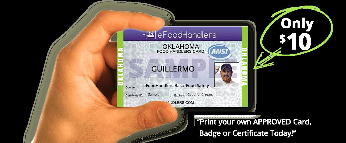 oklahoma food handlers card | efoodhandlers® | $10